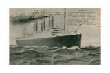 The German Liner  Vaterland Postcard Sent in 1913