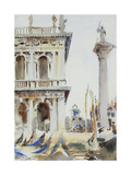 The Corner of the Libreria  with the Column of St Theodore  Venice  1904