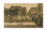 Bird Charmer in the Jardin des Tuileries  Paris Postcard Sent in 1913