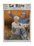 David Lloyd George and Petain  Front Cover Illustration from 'Le Rire Rouge'  12th January 1918
