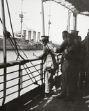 Transport with the 'Old Contemptibles' from India Meets a Man-Of-War in the Mediterranean