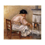 Woman at the Corner of the Stove; Femme Au Coin Du Poele  1912