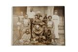 Overami  Ex-King of Benin  and His Suite  Nigeria  c1900