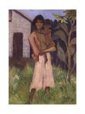 Standing Gypsy with Children; Stehende Zigeunerin Mit Kind  1927