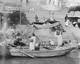 Hindus Performing their Sacred Rites in the River Ganges  Benaras  January 1912