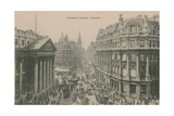 Mansion House  London Postcard Sent in 1913