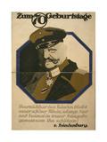 Poster Celebrating the 70th Birthday of Field Marshall Paul Von Hindenburg  1917