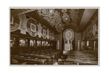 Chapel on Board the Steamboat  La Normandie Postcard Sent in 1913