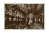 Chapel on Board the Steamboat  La Normandie Postcard Sent in 1913