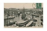 Military Port at Brest  France Postcard Sent in 1913