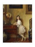 Miss Annie Harmsworth in an Interior  1907
