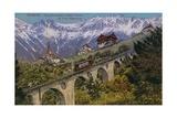 Innsbruck - Funicular Railway and Viaduct Postcard Sent in 1913