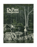 Pyralin Goes Fishing  Front Cover of the 'Dupont Magazine'  July 1923