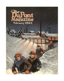 Leaving Work in the Snow  Front Cover of the 'Dupont Magazine'  February 1923