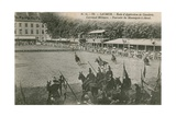 Parade at the Cavalry School in Saumur Postcard Sent in 1913