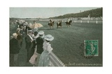 Horse Racing at Deauville Postcard Sent in 1913