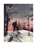 Skiing  Front Cover of the 'Dupont Magazine'  February 1924