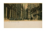 Wall Street  New York City Postcard Sent in 1913