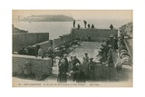 Women Washing Laundry in the Port at Louen Postcard Sent in 1913