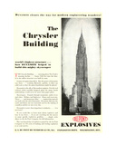 Advertisement Featuring the The Chrysler Building  from the 'Dupont Magazine'  May 1930