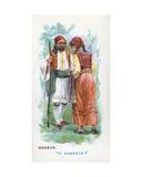 Customary Greeting in Greece  1907