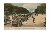 Paris  L'Avenue Du Bois de Boulogne Postcard Sent in 1913