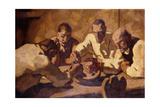 The Meal (First Constitution); Die Mahlzeit (Erste Fassung)  1920