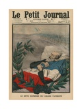 The Last Dream of the Great Patriot  Paul Deroulede  Front Coner Illustration from 'Le Petit…