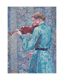 Marie-Anne Weber Playing the Violin  1903
