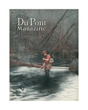Fly Fishing  Front Cover of the 'Dupont Magazine'  April 1924