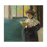 Woman Reading by a Window  c1904
