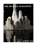 Skyscrapers  Front Cover of the 'Dupont Magazine'  March 1929