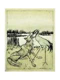 The Wolf and the Crane - Aesops Fables  1912