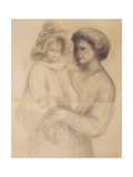 Claude Renoir in the Arms of His Nurse  Renee Jolivet; Claude Renoir Dans Les Bras de Sa Nurse …