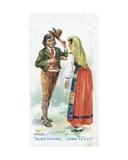 Customary Greeting in Italy  1907