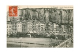A Game of Tennis in the Seaside Town of Le Treport Postcard Sent in 1913
