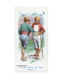 Customary Greeting in Roumania  1907