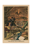 A Cataclysm in Japan  Eruption of the Sakura-Jima Volcano  Back Cover Illustration from 'Le Petit…