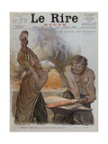 Alexandre Millerand and Albert Thomas as Blacksmiths Forging Peace  Front Cover Illustration from…