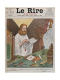 Jesus Christ Reading the Peace Plan Issued by Pope Benedict XV  Front Cover Illustration from 'Le…