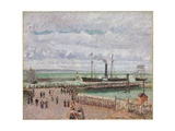 Entrance to the Port of Le Havre and the West Breakwaters  Luminous Grey Weather  1903