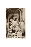 The Sultan of Foumban on His Throne  Cameroon  c1910