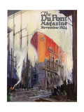 Ship Construction  Front Cover of the 'Dupont Magazine'  November 1924