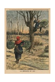 Cutting the Mistletoe  Back Cover Illustration from 'Le Petit Journal'  Supplement Illustre  4th…