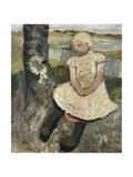 Child Sitting under a Tree; Kind Sitzend Unter Einem Baum  c1905
