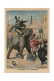 Revenge of an Elephant  Back Cover Illustration From'Le Petit Journal'  Supplement Illustre  8th…