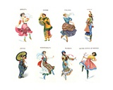 Dancers of the World  Cigarette Cards  1915