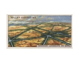 Will's Cigarette Card Depciting an Imaginary Landscape on Mars