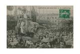 Carnaval de Nice 1913 Postcard Sent in 1913