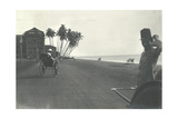 Judy Smith on a Rickshaw Near Galle Face Hotel  Colombo  Ceylon  1912